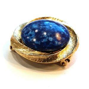 Jewelry - Vintage 50s Atomic Blue Dress Fur Clip & Brooch